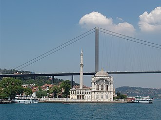 Ortaköy - Ortaköy Mosque and the Bosphorus Bridge.