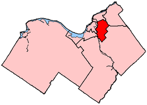 Ottawa South - Ottawa South in relation to other electoral districts in Ottawa (2003 boundaries)