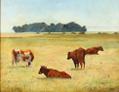Otto Balle - Landskab med græssende køer på en mark.png