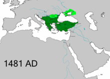 Map of the Ottoman Empire in 1481