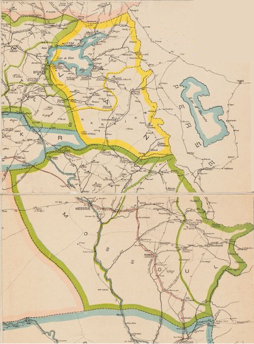 Ottoman vilayets of Van and Mossoul, 1899 (Hakkari is marked in a yellow outline). Ottoman vilayets of Van and Mossoul 1899.png