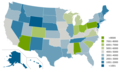 Out-of-State Students in Public colleges United States 2014.png