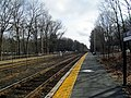 Outbound platform at Wellesley Farms station, April 2016.JPG