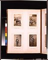 Outdoor portraits of a Japanese officers on horseback and studio portraits of young women, one with a spaniel and the other holding a parasol LCCN2011649876.jpg