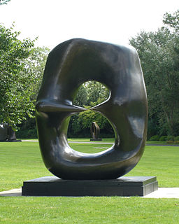 <i>Oval with Points</i> sculpture series by Henry Moore