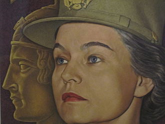 Oveta Culp Hobby - Colonel Hobby's portrait in military uniform at the National Portrait Gallery in Washington, D.C.