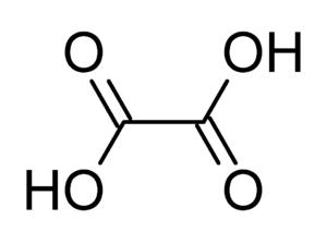 Dicarboxylic acid - Image: Oxalic acid
