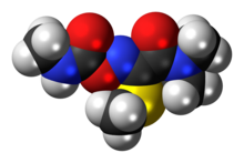 Space-filling model of oxamyl