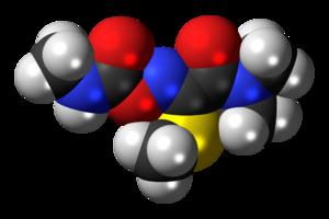 Oxamyl - Image: Oxamyl molecule spacefill