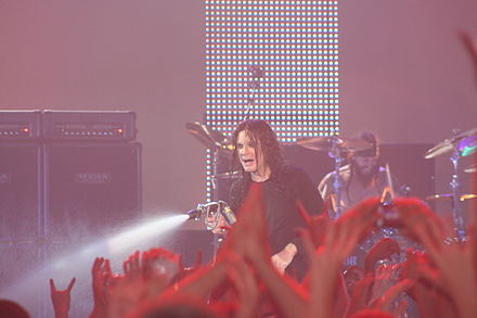 Osbourne at the 2009 BlizzCon concert held in Anaheim, California. Ozzy Osbourne BlizzCon 2009.jpg