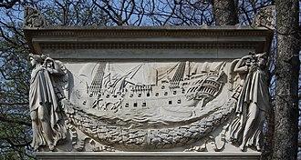 Denis Decrès - The attempt to rescue the Glorieux a pivotal moment in his career; tomb of Denis Decrès.