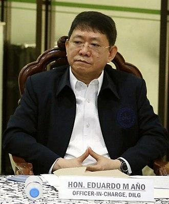 Secretary of the Interior and Local Government (Philippines) - Image: PDEA pressbriefing Eduardo Ano Apr 30 2018 (cropped)