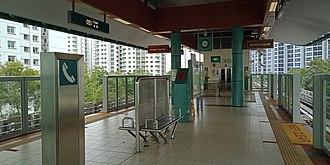Punggol LRT line - Image: PE1 Cove LRT station