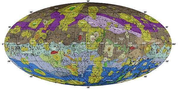 PIA18788-VestaAsteroid-GeologicMap-DawnMission-20141117