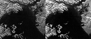 Ligeia Mare - Titan - Ligeia Mare - SAR and clearer despeckled views.
