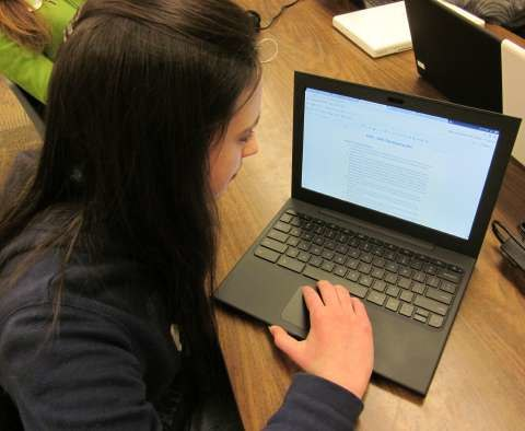 PVUSD student using GoogleApps