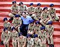 P Vijayan IPS With Student Police Cadet.JPG