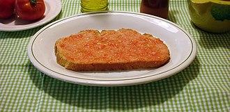 Catalan cuisine - Image: Pa amb tomàquet 001