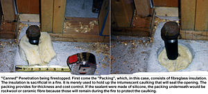Packing (firestopping) - Image: Pack seal 2