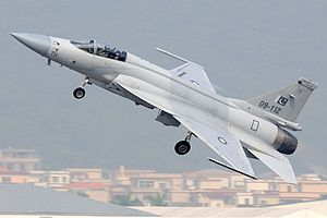 Pakistan Air Force - A Chengdu JF-17 taking from Zhuhai Jinwan Airport