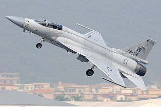 Pakistan Air Force - Chengdu JF-17 taking off from Zhuhai Jinwan Airport