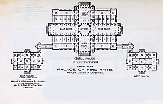 Museum of Science and Industry (Chicago) - Palace of Fine Arts floor plan