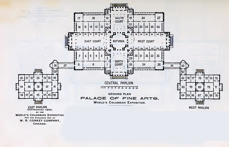 Palace of fine arts floor plan