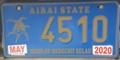 Palau license plate Airai 2020.png