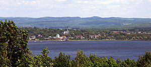 Magog, Quebec - The skyline of the city of Magog.