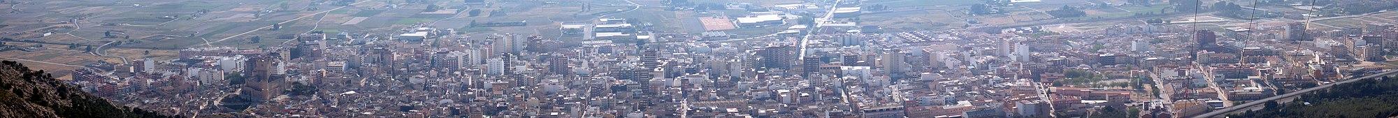 Panorámica de la ciudad desde la sierra de la Villa.