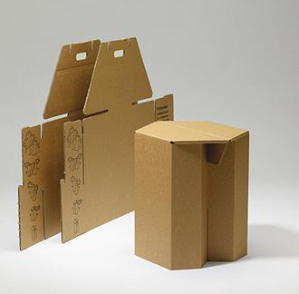 Cardboard furniture - Image: Papphocker Hans Peter Stange, Berlin 1979