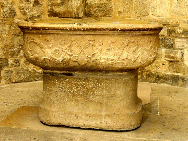 Fichier:Paris (75), église Saint-Pierre, absidiole sud, fonts baptismaux 2.jpg