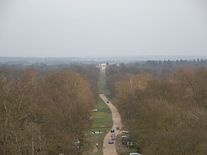 Ashridge - View from Bridgewater Monument to the house