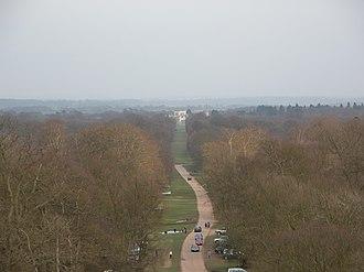 Ashridge - View from Bridgewater Monument to the house