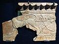 Parte di fregio con minotauro e felini, 600-550 ac ca., da regia, foro romano (antiquarium del foro) 01.JPG