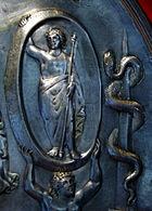 Patera di Parabiago - MI - Museo archeologico - Zodiaco - 25-7-2003 - Foto Giovanni Dall'Orto - 25-7-2003