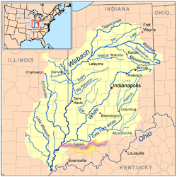 Patoka River Wikipedia - Indiana rivers map