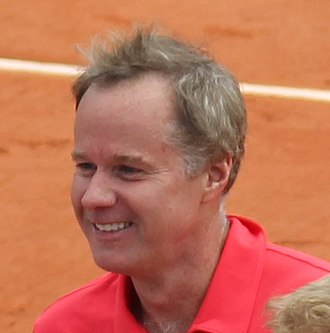 Patrick McEnroe - Image: Patrick Mc Enroe Roland Garros 2012