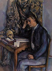 Paul Cézanne - Young Man and Skull (Jeune homme à la tête de mort) - BF929 - Barnes Foundation.jpg