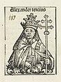 Paus Alexander III Alexander tercius (titel op object) Liber Chronicarum (serietitel), RP-P-2016-49-66-11.jpg