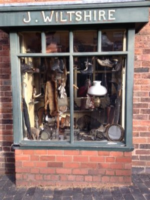 Black Country Living Museum Pawnbrokers Shop - Window of pawnbrokers shop at Black Country Living Museum