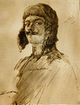 Pencil drawing of William Thaw by Henri Farré (cropped).JPG
