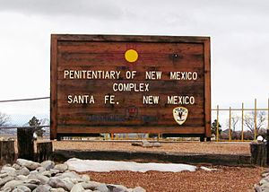 Penitentiary of New Mexico - The entrance to the Penitentiary of New Mexico, as seen from Highway 14.
