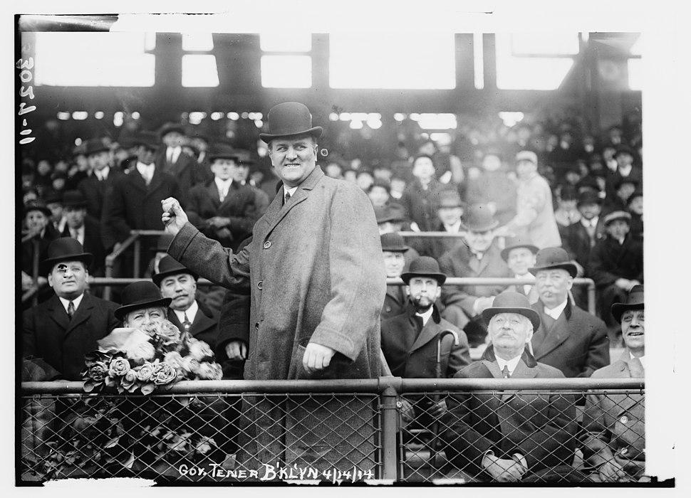 Pennsylvania Governor John K. Tener at Ebbets Field (baseball) LCCN2014695754