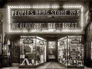 Peoples Drug - Peoples Drug store in Washington, D.C., ca. 1920
