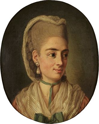 Per Krafft the Elder - Portrait of an unknown lady by Per Krafft the Elder