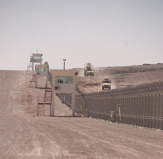 Shindand Air Base - The perimeter fence at Shindand Air Base, which has 52 guard towers and was completed by the USACE.