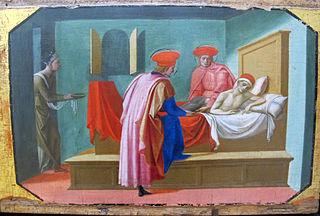 Saint Cosme et saint Damien soignant un malade