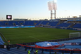 Petrovsky Stadium in Saint Petersburg, Russia. View at the empty sectors after the friendly match Zenit SPb-Bayern Munchen.jpg