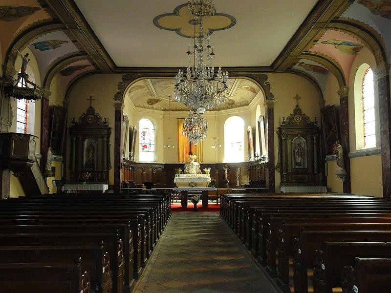 Pexonne (M-et-M) église, nef